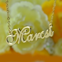Personalized Nameplate Necklace 18K Gold Plated