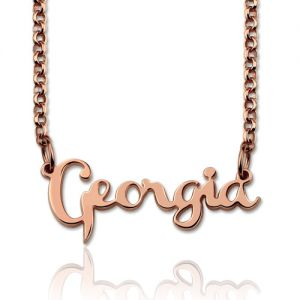Personalized Celebrity Name Necklace In Rose Gold