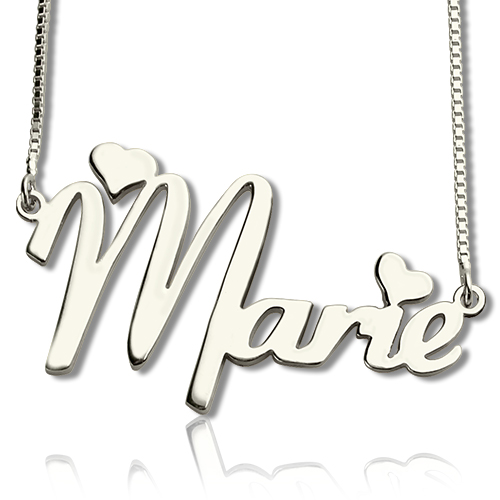 Personalized Cute Name Necklace Sterling Silver