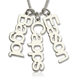 Vertical 1-6 Names Necklaces for Mom