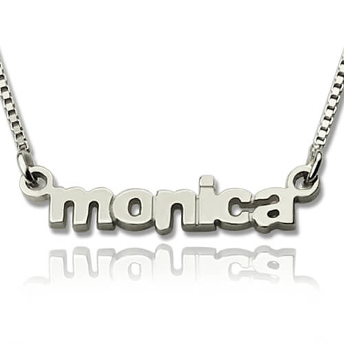 My Tiny Name Necklace Custom Sterling Silver