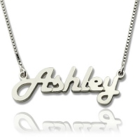Sterling Silver Retro Name Necklace
