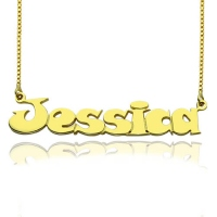 Gold Over Children's Name Necklace