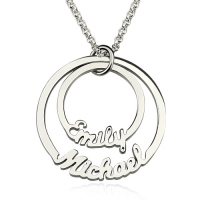 Two Disc Name Necklace Sterling Silver