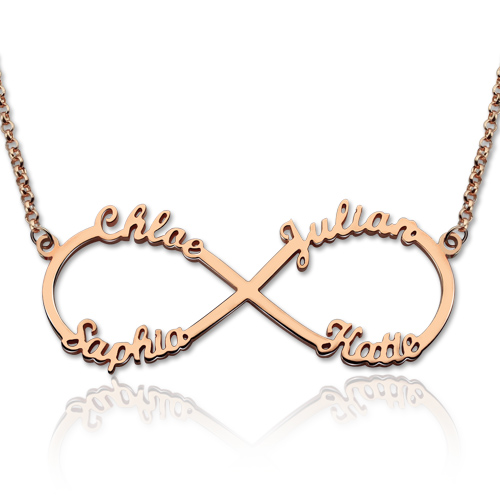Heart Necklace With Children S Names