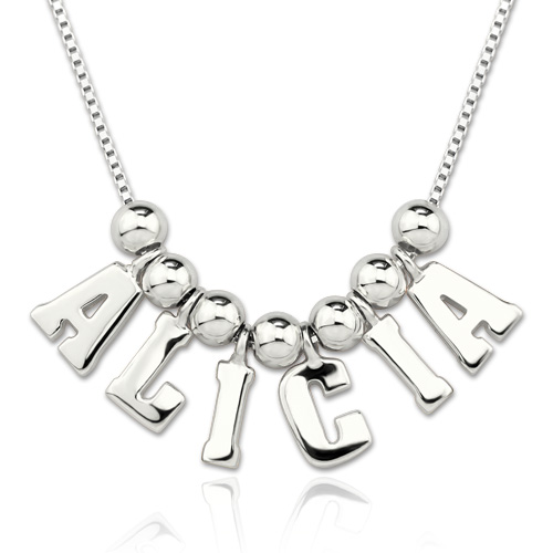 Personalized One & Only Name Necklace Sterling Silver