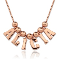 Personalized One & Only Name Necklace In Rose Gold