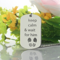 Personalized Cute His and Hers Dog Tag Necklaces Titanium Steel