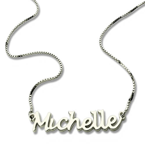 handwritten name necklaces