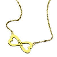 Gold Infinity Heart-Shaped Necklace