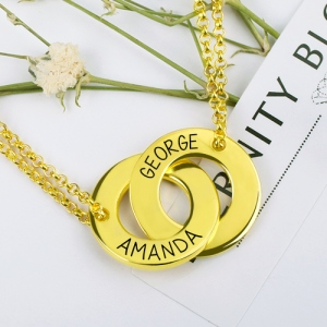 two circle name necklace