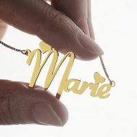 Personalized Nameplate Necklace for Girls 18K Gold Plated
