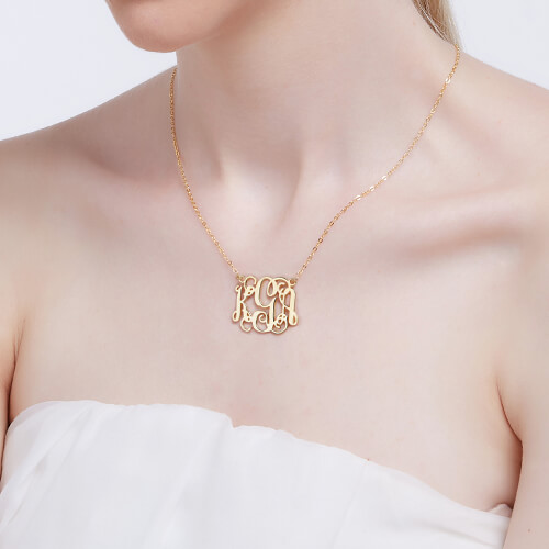 Cut Out Taylor Swift Monogram Necklace 18K Gold Plated