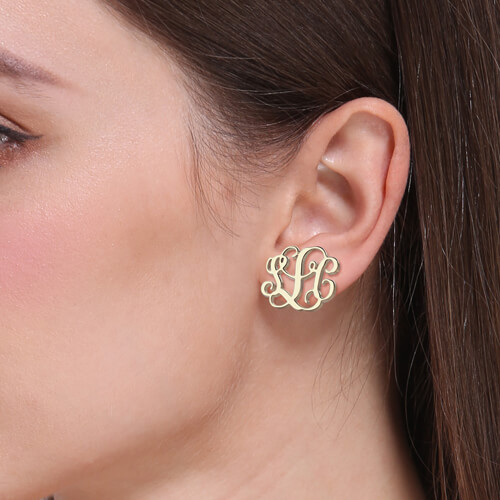 personalized stud earring