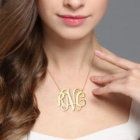 XXL monogram necklace