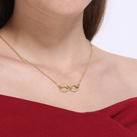 Gold Infinity Name Necklace