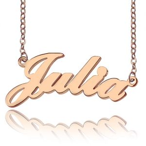 Rose Gold Plated Silver 925 Julia Style Name Necklace