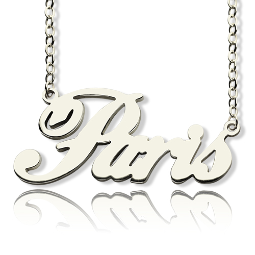 Custom Name Necklace Sterling Silver