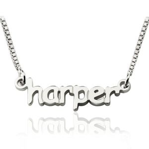 Personalized Mini Name Letter Necklace Sterling Silver