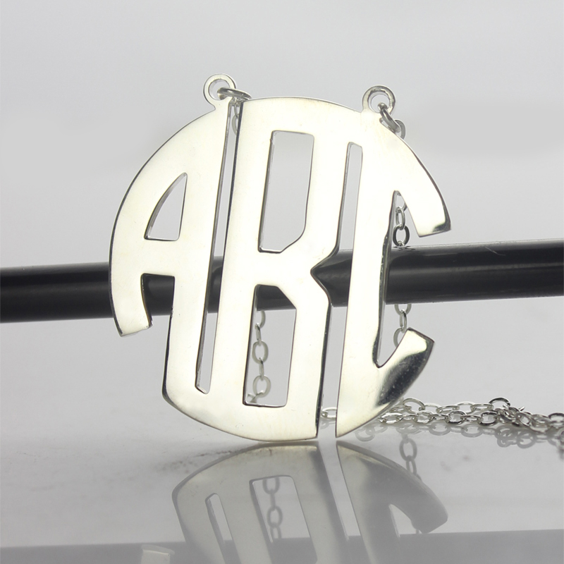 Round Monogram Necklace
