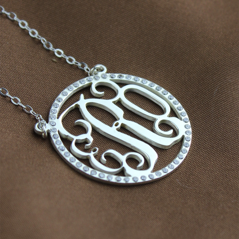Silver Monogram Necklace