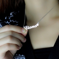 White Gold Name Jewelry
