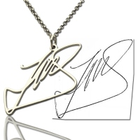 Custom Necklace with Your Own Signature Silver