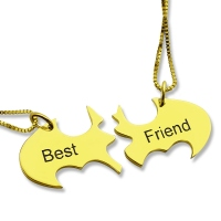 Personalized Puzzle Friend Name Necklace 18K Gold Plated
