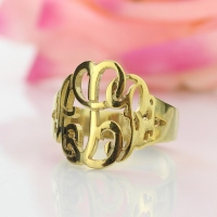 Personalized Hand Drawing Monogrammed Ring Gifts