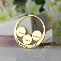 Mothers Family Name Pendant In Gold
