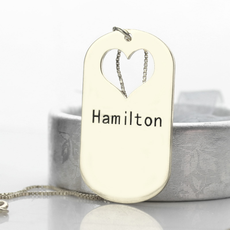 Matching Father Daughter Necklace Set with Name