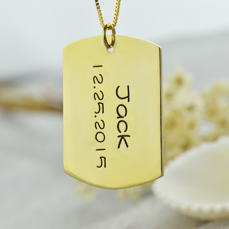 Personalized Gold Plated Sterling Silver Engravable Id Dog