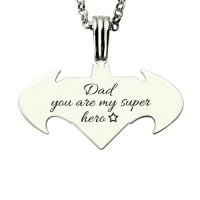 batman superman necklace