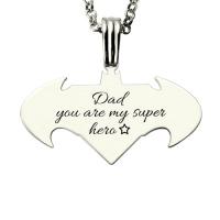 batman superman necklace