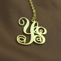 18K Gold Plated 2-Initial Monogram Necklace