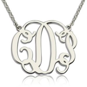 Sterling Silver Personalized Taylor Swift Monogram Necklace
