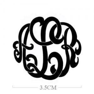 Custom Large Monogram Necklace Hand-painted