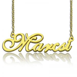 Personalized Lovely Nameplate Necklace 18K Gold Plated