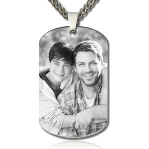 Personalized Anniversary Necklace for Him Dog Tag Gifts