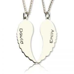 Angel Wings Mother Daughter Necklaces Set