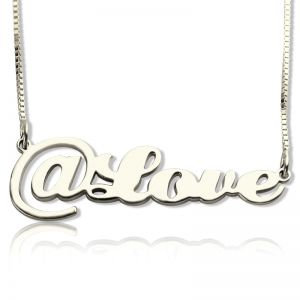 Twitter At Symbol Name Necklace Sterling Silver