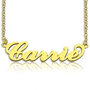 Personalized Carrie Name Necklace 18K Gold Plated