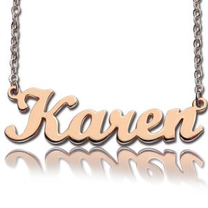 Custom Script Name Necklace Rose Gold
