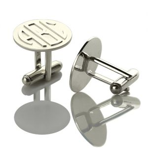 Valentine's Day Mens Cufflinks Presents with Block Monogram