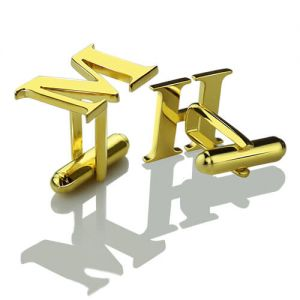 Best Initial Cufflinks 18k Gold Plated