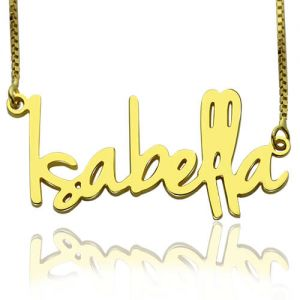 Small Name Necklace For Women in Gold