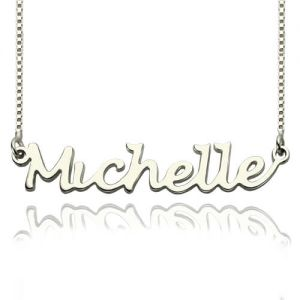 Recognizable Handwriting Name Necklace Sterling Silver