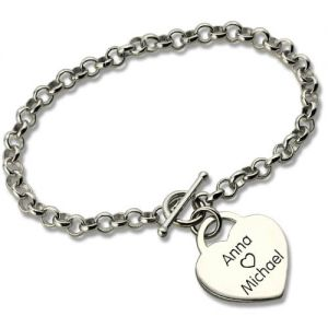 Mysterious Classic Padlock Heart Toggle Bracelet with Free Filigree Keepsake Box