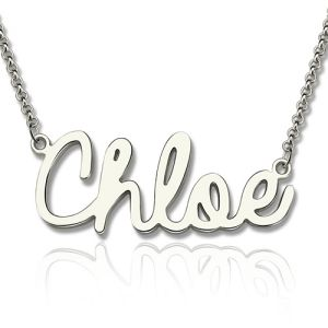 Personalized Cursive Name Necklace for Her Sterling Silver 925