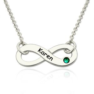Women's Infinity Birthday Name Gifts Necklace